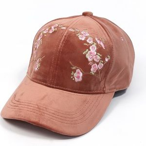 Embroidered Cap-- Dusty Mauve